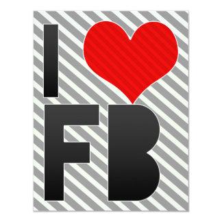 Amo el FB Invitación 10,8 X 13,9 Cm