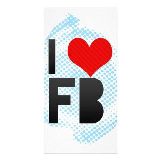 Amo el FB Plantilla Para Tarjeta De Foto