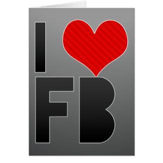 Amo el FB Tarjeta Pequeña