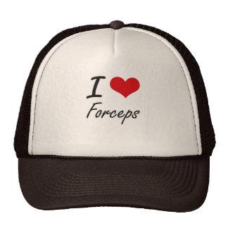 Amo el fórceps gorra