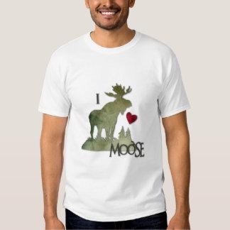 Amo el frente de los alces camiseta
