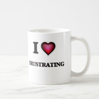 Amo el frustrar taza de café