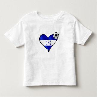 Amo el futbol de Honduras - corazón de la bandera Camiseta De Bebé