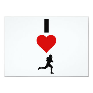 Amo el fútbol (vertical) invitación 12,7 x 17,8 cm
