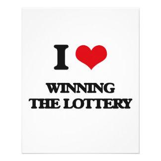 Amo el ganar de la lotería folleto 11,4 x 14,2 cm