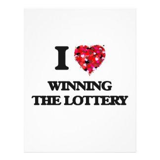 Amo el ganar de la lotería folleto 21,6 x 28 cm