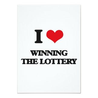 Amo el ganar de la lotería invitación 12,7 x 17,8 cm