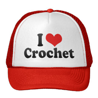 Amo el ganchillo gorra