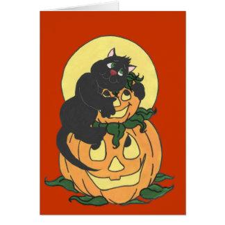 Amo el gato de Halloween Tarjeta De Felicitación