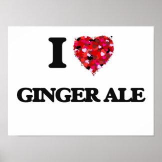 Amo el ginger ale póster