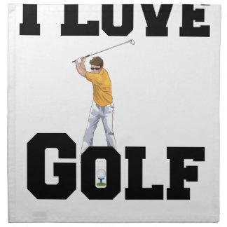 Amo el golf 01 servilleta de tela