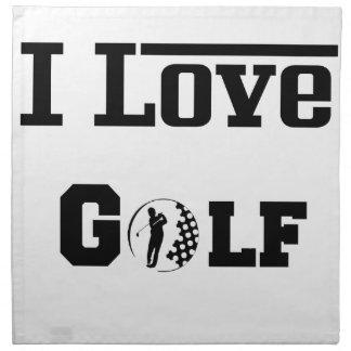 Amo el golf 2 servilleta de tela
