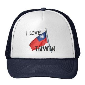 Amo el gorra de la bandera de Taiwán
