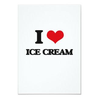 Amo el helado invitación 8,9 x 12,7 cm
