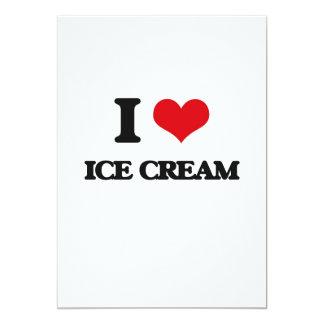 Amo el helado invitación 12,7 x 17,8 cm