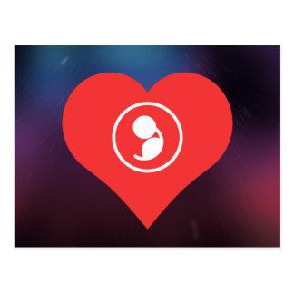 Amo el icono del embarazo postal