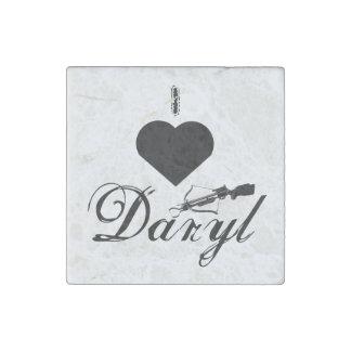 Amo el imán de piedra de mármol de Daryl