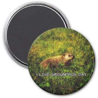 Amo el imán del día de la marmota