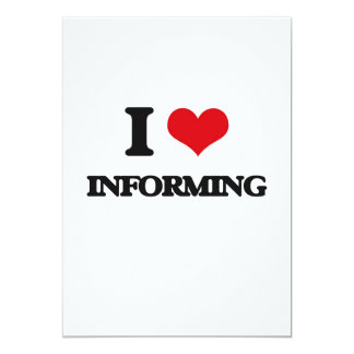 Amo el informar invitación 12,7 x 17,8 cm