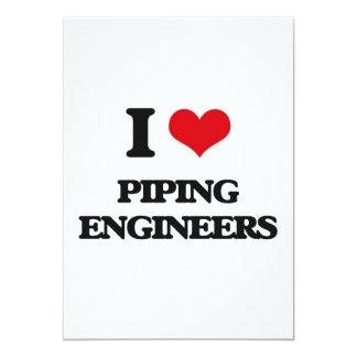 Amo el instalar tubos de ingenieros invitación 12,7 x 17,8 cm