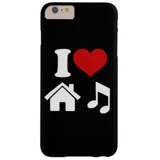 Amo el iPhone 6/6s de la música de la casa Funda De iPhone 6 Plus Barely There