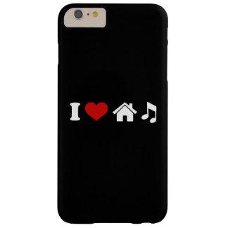 Amo el iPhone 6/6s de la música de la casa Funda Para iPhone 6 Plus Barely There