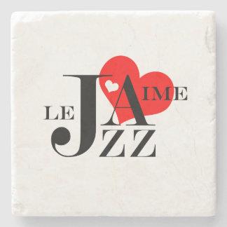 Amo el jazz - amante francés del jazz posavasos de piedra