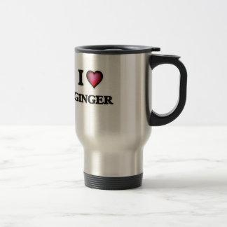 Amo el jengibre taza de viaje