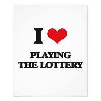 Amo el jugar de la lotería folleto 11,4 x 14,2 cm