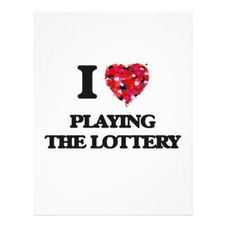 Amo el jugar de la lotería folleto 21,6 x 28 cm