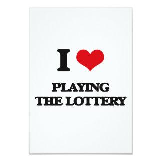 Amo el jugar de la lotería invitación 8,9 x 12,7 cm