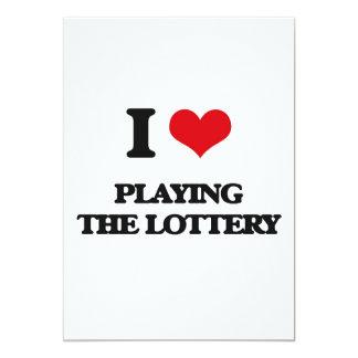 Amo el jugar de la lotería invitación 12,7 x 17,8 cm