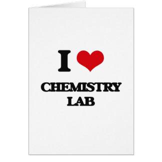 Amo el laboratorio de química tarjeta de felicitación