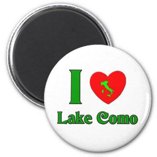 Amo el lago Como Italia Imán Redondo 5 Cm