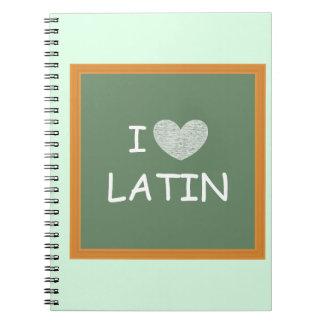 Amo el latín libreta espiral