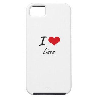 Amo el lino iPhone 5 cárcasa