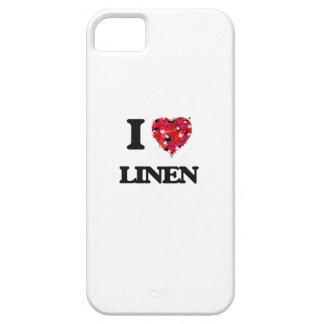 Amo el lino iPhone 5 Case-Mate cárcasa