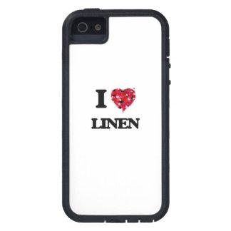 Amo el lino iPhone 5 Case-Mate carcasas