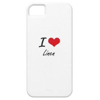 Amo el lino iPhone 5 Case-Mate fundas