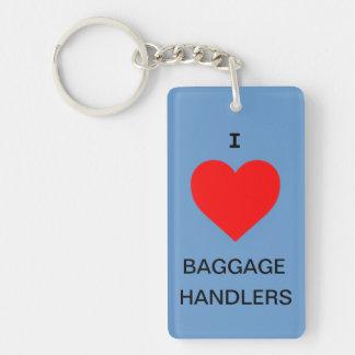 Amo el llavero de los manipuladores de equipaje/la
