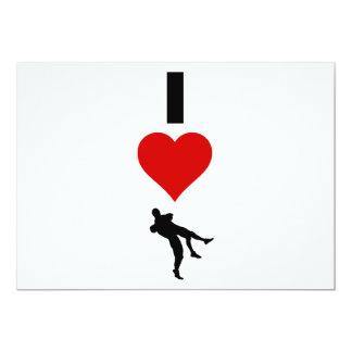 Amo el luchar (la vertical) invitación 12,7 x 17,8 cm