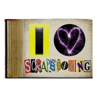 Amo el marco de Scapbooking Poster