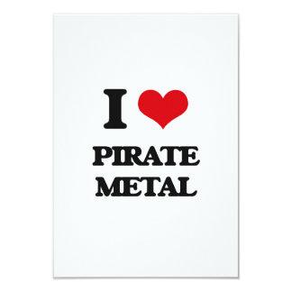 Amo el METAL del PIRATA Invitación 8,9 X 12,7 Cm
