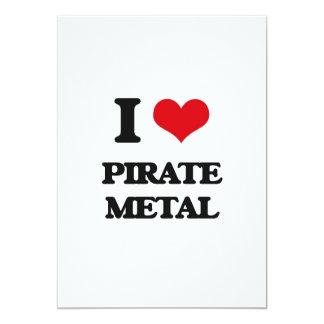 Amo el METAL del PIRATA Invitación 12,7 X 17,8 Cm