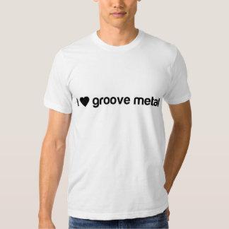 Amo el metal del surco camisas