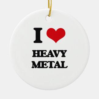 Amo el metal pesado adorno para reyes