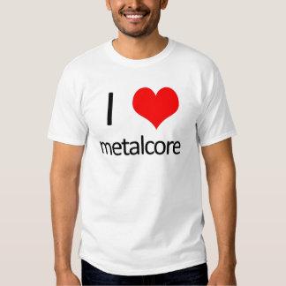Amo el metalcore camisetas