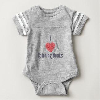 Amo el mono del bebé de los libros de colorear body para bebé