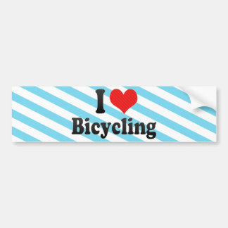 Amo el montar en bicicleta pegatina de parachoque