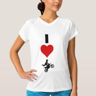 Amo el motocrós (vertical) camisetas